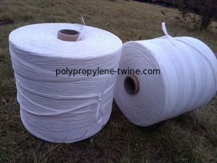 Good Quality Polypropylene Twine & White Colored Added Caco3 PP Fibrillated Yarn 5% Hot Shrinkage Rate Free Sample on sale