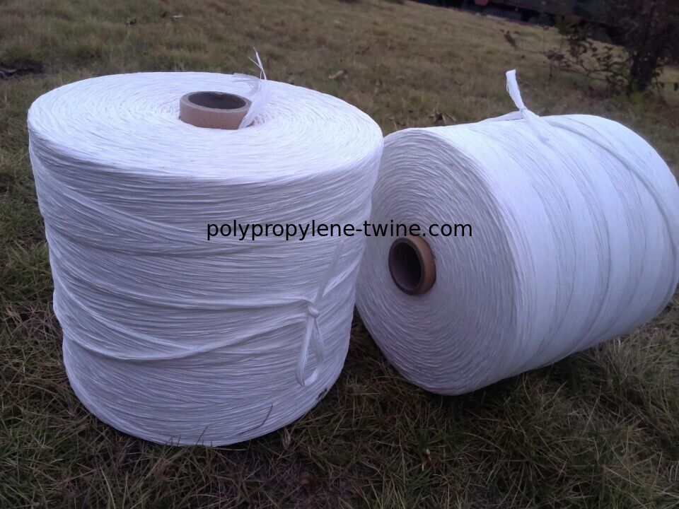 White Colored Added Caco3 PP Fibrillated Yarn 5% Hot Shrinkage Rate Free Sample