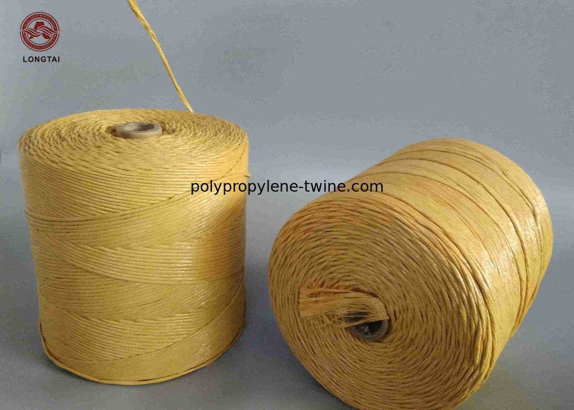 Yellow Flame Retardant Filler , 1mm~50mm LSHF FR PP Filler Yarn