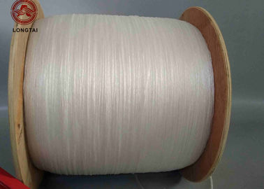 White Twisted Fibrillated  PP Filler Yarn Rigid Type For 1mm - 10mm Cable