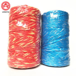 5mm 2 Ply Twisted Colorful Polypropylene Baling Twine With High Breaking Strength