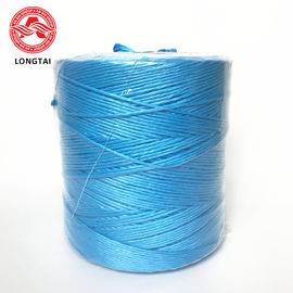 Blue UV treated tomato tying twine 1 strand twisted split film polypropylene rope